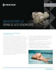 WHISPERFLO BOMBA DE ALTO RENDIMIENTO - Pentair