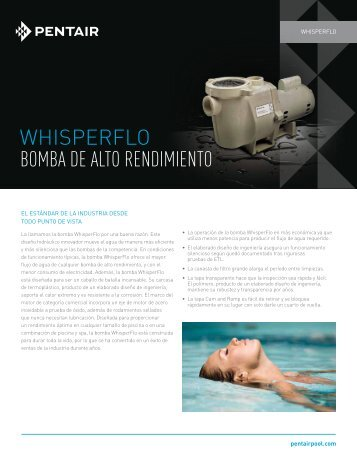 WHISPERFLO BOMBA DE ALTO RENDIMIENTO - Pentair