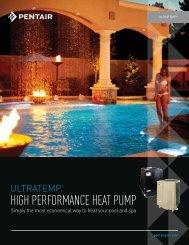 UltraTemp High Performance Heat Pump - Pentair