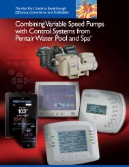 Combining Variable Speed Pumps with Controls Systems - Pentair