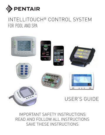 screenlogic interfaces florida pool service rh yumpu com Spa Controls IntelliTouch Pool Spa Control System