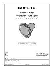 Sunglow™ Large Underwater Pool Lights - Pentair