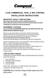 lx-80 commercial pool & spa control installation instructions - Pentair