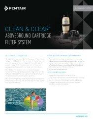 CLEAn & CLEAR® ABOVEGROUND CARTRIDGE FILTER ... - Pentair