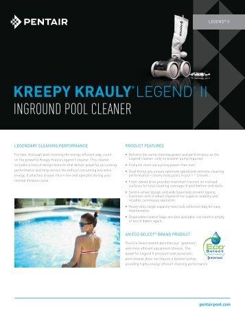 Kreepy Krauly® LEGEND® II INGROUND POOL CLEANER - Pentair