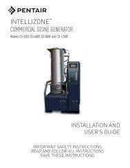 INTELLIZONE COMMERCIAL OZONE GENERATOR - Pentair