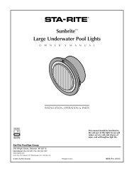 Sunbrite™ Large Underwater Pool Lights - Pentair