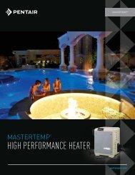 MasterTemp High Performance Heater - Pentair