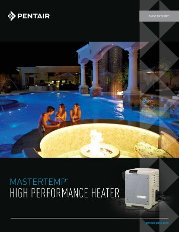 MasterTemp High Performance Heater - Pentair