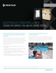 EasyTouch Upgrade for Compool Pool and Spa Control ... - Pentair