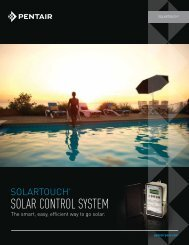 SOLARTOUCH SOLAR CONTROL SYSTEM - Pentair