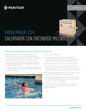MINIMAX CH CALENTADOR CON ENCENDIDO MILLIVOLT - Pentair