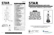 Star Owner's Manual - Pentair