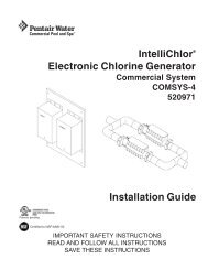 IntelliChlor Electronic Chlorine Generator COMSYS-4 - Pentair