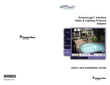 ScreenLogic Video & Lighting Protocol Adapter User's and - Pentair