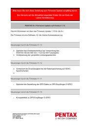 Bitte lesen Sie sich diese Anleitung zum Firmware Update ... - Pentax