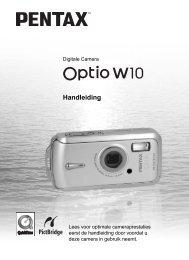 Optio W10 - Pentax