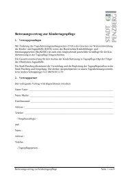 Beteuungsvertrag zur Kindertagespflege - Penzberg