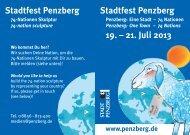 Stadtfest Penzberg 19. – 21. Juli 2013 Stadtfest Penzberg