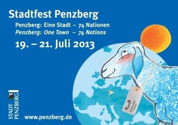 Stadtfest Penzberg 19. – 21. Juli 2013