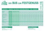 DER BUS ZUM FESTGENUSS - Penzberg