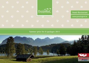 Hotel-Restaurant - Hotel Penzinghof