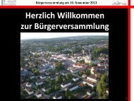 Präsentation 1. Bürgermeister Hans Mummert - Penzberg