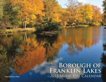 2013 Borough Calendar - Borough of Franklin Lakes