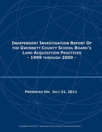 Land report - Gwinnett County Public Schools