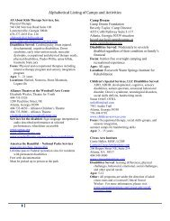 Alphabetical Listing of Camps and Activities - Gwinnett County ...
