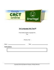 3rd Language Arts Test B