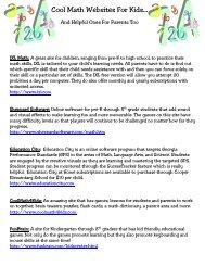 Cool Math Websites For Kids… - Gwinnett County Public Schools