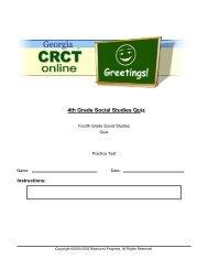 4th Grade Social Studies Quiz