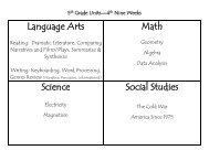 Language Arts Math Science Social Studies