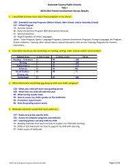 2011 Title I Parent Survey Results - Gwinnett County Public Schools