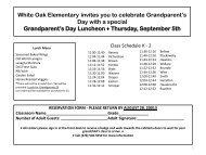 White Oak Elementary invites you to celebrate Grandparent's Day ...