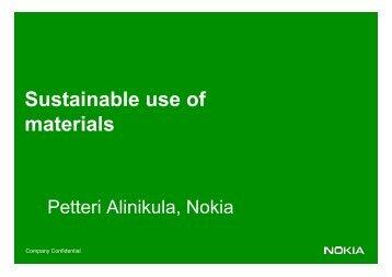 Petteri Alinikula, Nokia - LCA Sustainable Product Design Europe ...
