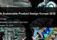Autodesk - LCA Sustainable Product Design Europe 2010