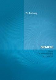 Einladung - Siemens AG