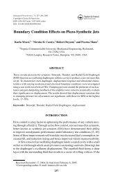 Boundary Condition Effects on Piezo-Synthetic Jets - People.vcu.edu