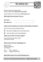 So wohne ich: - Netzwerk People First Deutschland eV
