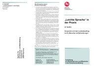 """""""Leichte Sprache"""" in der Praxis - Netzwerk People First Deutschland ..."""