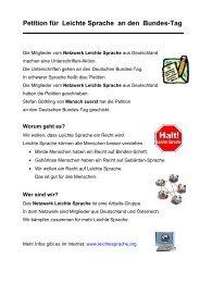 Petition für Leichte Sprache an den Bundes-Tag - Netzwerk Leichte ...