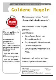 Goldene Regeln - Mensch zuerst - Netzwerk People First ...