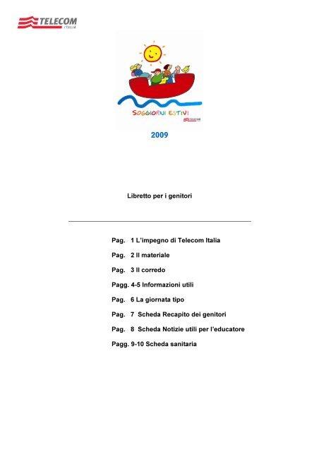 Libretto per i genitori Pag. 1 L\'impegno di Telecom ltalia Pag. 2 ll ...