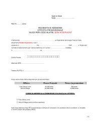 """richiesta di adesione offerta promozionale """"alice per i soci alatel non ..."""