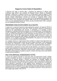 Rapporto Censis-Salute/la Repubblica - Peoplecaring.telecomitalia.it