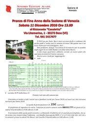 Pranzo di Fine Anno VE - Peoplecaring.telecomitalia.it - Telecom Italia