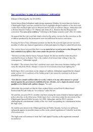 Critique of Binayak judgement – Jan 24, 2011 - People's watch