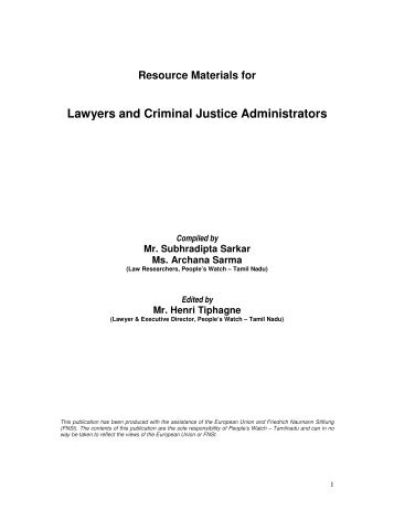 Lawyers and Criminal Justice Administrators.pdf - People's watch